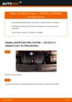 Kā nomainīt un noregulēt Amortizators VW GOLF: pdf ceļvedis