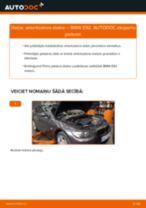 Kā nomainīt: priekšas amortizatora statni BMW E92 - nomaiņas ceļvedis