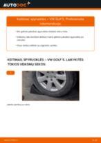 Pakeisti Spyruoklės VW GOLF: instrukcija