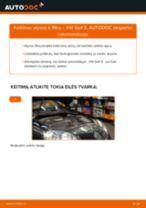 Kaip pakeisti VW Golf 5 variklio alyvos ir alyvos filtra - keitimo instrukcija
