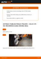 Montavimo Valytuvo Svirtis VOLVO V70 II (SW) - žingsnis po žingsnio instrukcijos