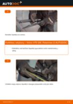 Kaip pakeisti Volvo V70 SW valytuvų: galas - keitimo instrukcija