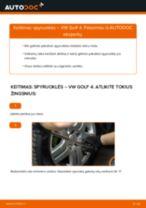 VW GOLF Spyruoklės keitimas: nemokamas pdf