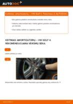 Nemokamos internetinės instrukcijos kaip atnaujinti Amortizatorius VW GOLF IV (1J1)