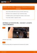 Kaip pakeisti VW Golf 4 variklio alyvos ir alyvos filtra - keitimo instrukcija