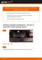 Montavimo Amortizatorius VW GOLF IV (1J1) - žingsnis po žingsnio instrukcijos