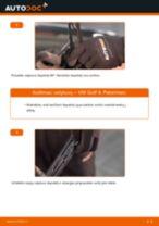 Kaip pakeisti VW Golf 4 valytuvų: galas - keitimo instrukcija
