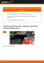 Internetinis vadovas, kaip pačiam pakeisti Amortizatorius ant BMW 3 Coupe (E92)