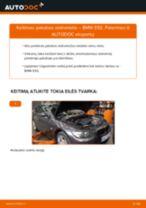 BMW 3 Coupe (E92) priekyje ir gale Amortizatorius pakeisti: žinynai pdf