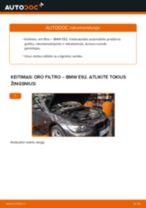 Montavimo Variklio oro filtras BMW 3 Coupe (E92) - žingsnis po žingsnio instrukcijos