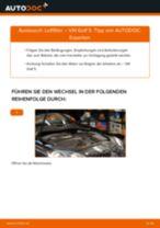 Anleitung: VW Golf 5 Luftfilter wechseln