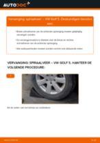 Veren vervangen VW GOLF: werkplaatshandboek