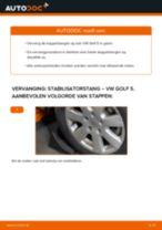 VW Stabilisatorkoppelstang achter en vóór veranderen doe het zelf - online handleiding pdf