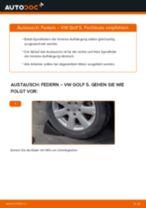 Federn hinten selber wechseln: VW Golf 5 - Austauschanleitung