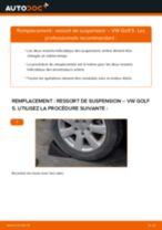 Montage Ressort VW GOLF V (1K1) - tutoriel pas à pas