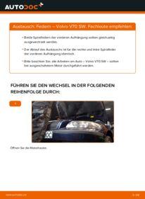 Wie der Wechsel durchführt wird: Federn 2.4 Volvo V70 SW tauschen