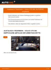 Wie der Wechsel durchführt wird: Stoßdämpfer 2.4 Volvo V70 SW tauschen
