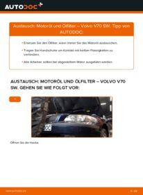 Wie der Wechsel durchführt wird: Ölfilter 2.4 Volvo V70 SW tauschen