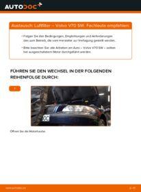 Wie der Wechsel durchführt wird: Luftfilter 2.4 Volvo V70 SW tauschen