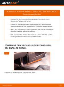 Wie der Wechsel durchführt wird: Innenraumfilter 2.4 Volvo V70 SW tauschen