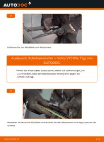 Wie der Wechsel durchführt wird: Scheibenwischer 2.4 Volvo V70 SW tauschen