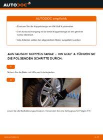 Wie der Wechsel durchführt wird: Koppelstange 1.4 16V Golf 4 tauschen