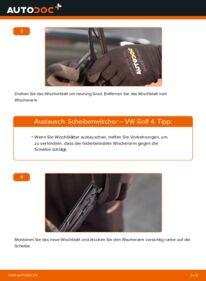 Wie der Wechsel durchführt wird: Scheibenwischer 1.4 16V Golf 4 tauschen