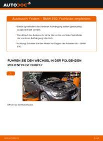 Wie der Wechsel durchführt wird: Federn 335i 3.0 BMW E92 tauschen