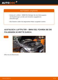 Wie der Wechsel durchführt wird: Luftfilter 335i 3.0 BMW E92 tauschen