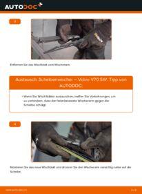 Wie der Ersatz vollführt wird: Scheibenwischer am VOLVO V70