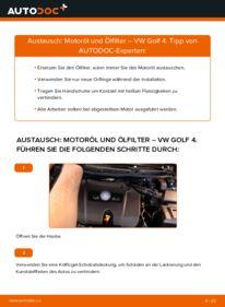 Wie der Wechsel ausgeführt wird: Ölfilter beim VW GOLF