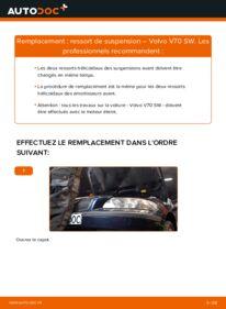 Comment effectuer un remplacement de Ressort d'Amortisseur sur 2.4 Volvo V70 SW