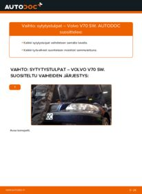 Kuinka vaihtaa Sytytystulpat 2.4 Volvo V70 SW -autoon