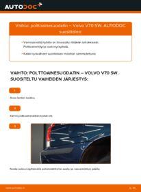 Kuinka vaihtaa Polttoainesuodatin 2.4 Volvo V70 SW -autoon