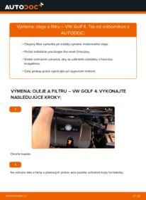 Ako vykonať výmenu: Olejový filter na 1.4 16V Golf 4