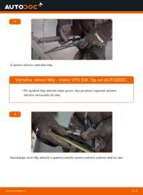 Jak provést výměnu: List stěrače na 2.4 Volvo V70 SW