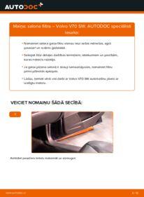 Kā veikt nomaiņu: VOLVO V70 Salona filtrs