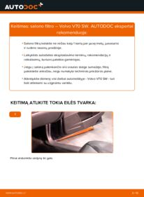 Kaip atlikti keitimą: 2.4 Volvo V70 SW Oro filtras, keleivio vieta