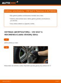 Kaip atlikti keitimą: 1.4 16V Golf 4 Amortizatorius