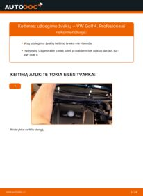 Kaip atlikti keitimą: 1.4 16V Golf 4 Uždegimo žvakė