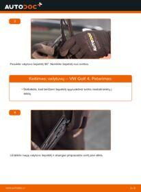 Kaip atlikti keitimą: 1.4 16V Golf 4 Valytuvo gumelė