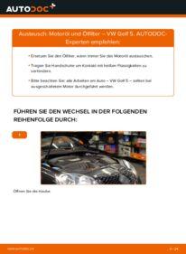 Wie der Wechsel durchführt wird: Ölfilter 1.9 TDI Golf 5 tauschen