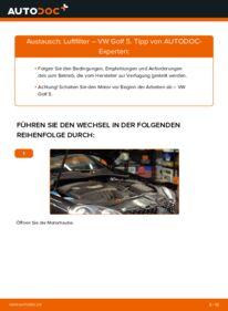 Wie der Wechsel durchführt wird: Luftfilter 1.9 TDI Golf 5 tauschen