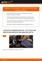 FIAT PUNTO (188) Innenraumfilter: PDF-Anleitung zur Erneuerung