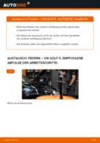 Federn vorne selber wechseln: VW Golf 5 - Austauschanleitung