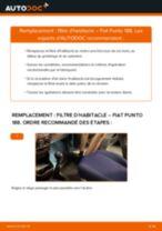 Notre guide PDF gratuit vous aidera à résoudre vos problèmes de FIAT Fiat Punto 188 1.2 16V 80 Filtre à Huile