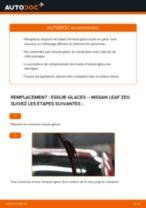 Comment changer : essuie-glaces avant sur Nissan Leaf ZE0 - Guide de remplacement