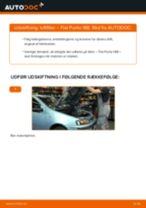 Automekaniker anbefalinger for udskiftning af FIAT Fiat Punto 188 1.2 16V 80 Brændstoffilter