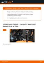 Lær hvordan skifter Fjeder bag venstre højre på VW - gratis instruktionsbog