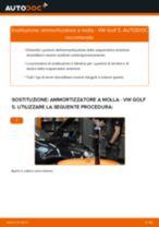 Come cambiare ammortizzatore a molla della parte anteriore su VW Golf 5 - Guida alla sostituzione